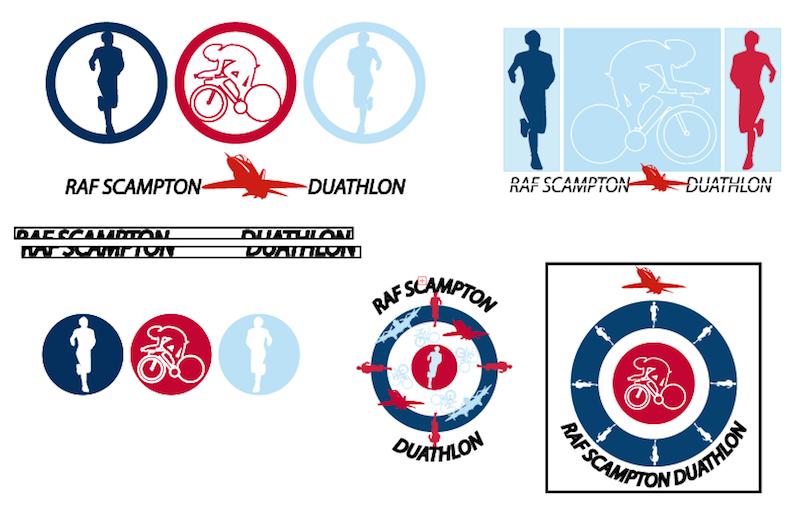 RAF Scampton Duathlon Logo